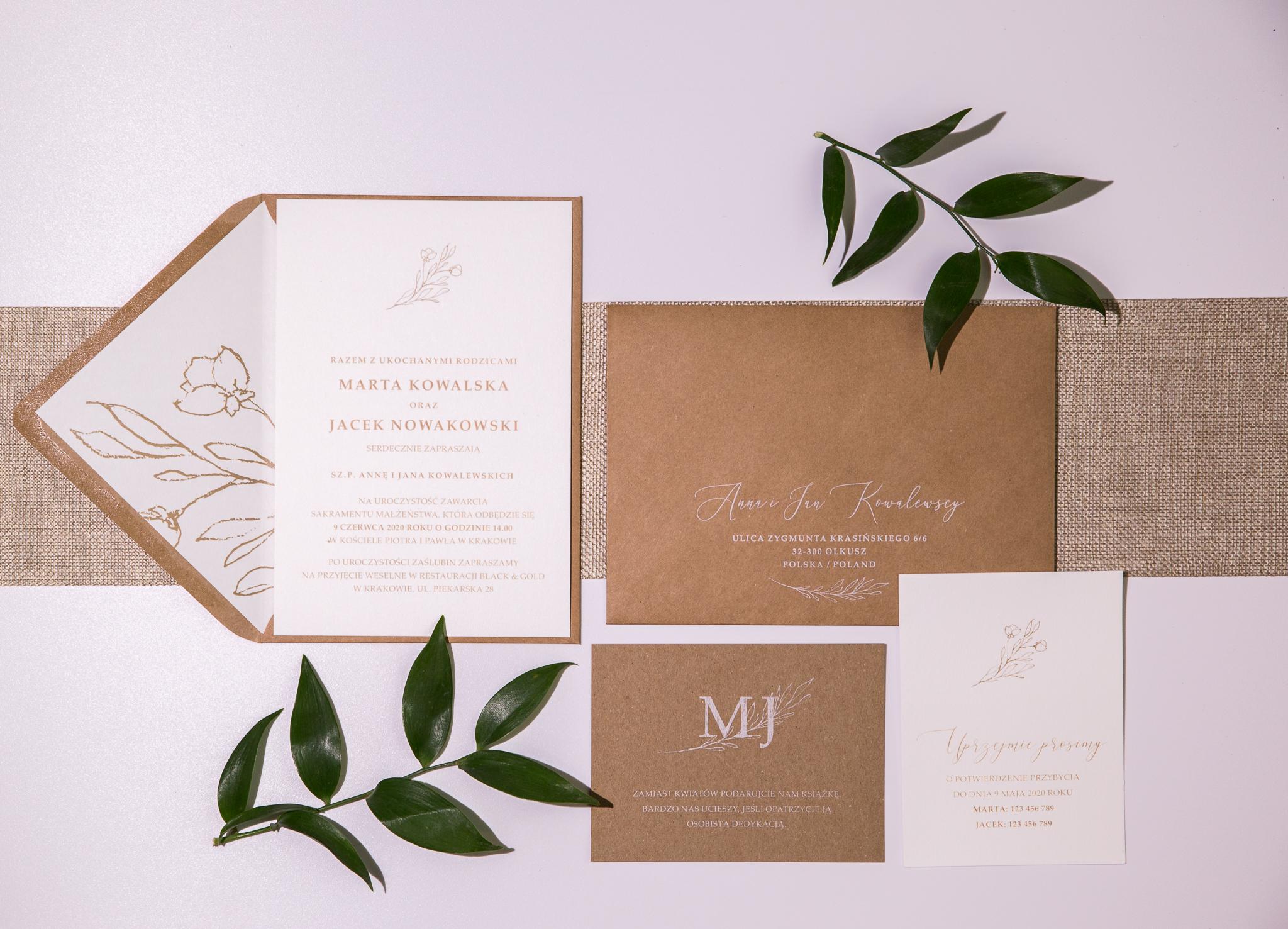 soft eko zaproszenia na ślub